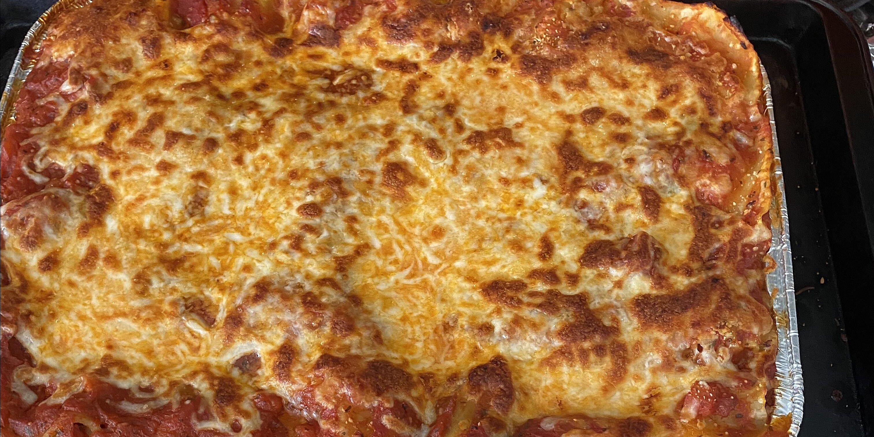 ragu no boiling lasagna