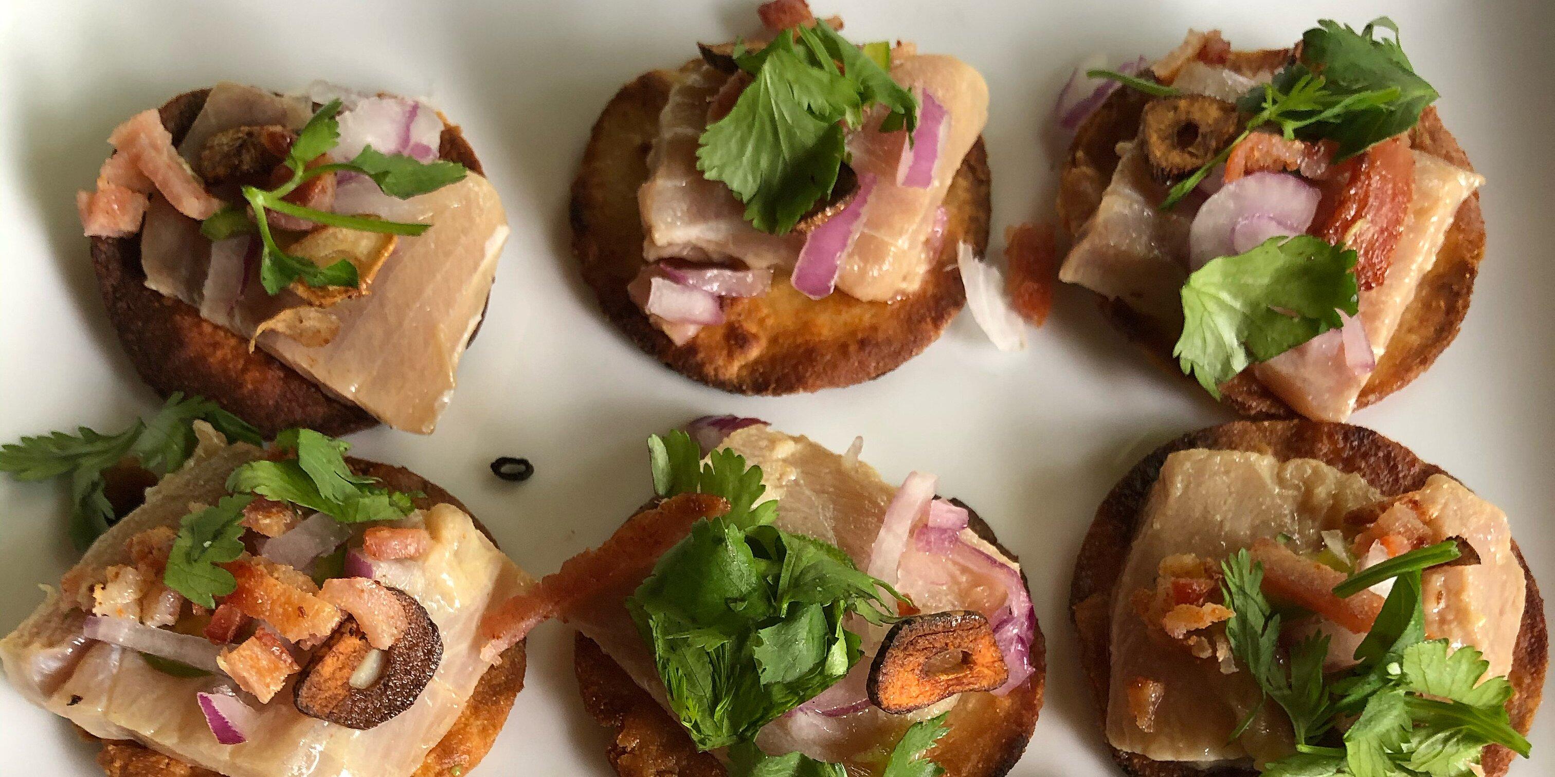 hamachi tostada