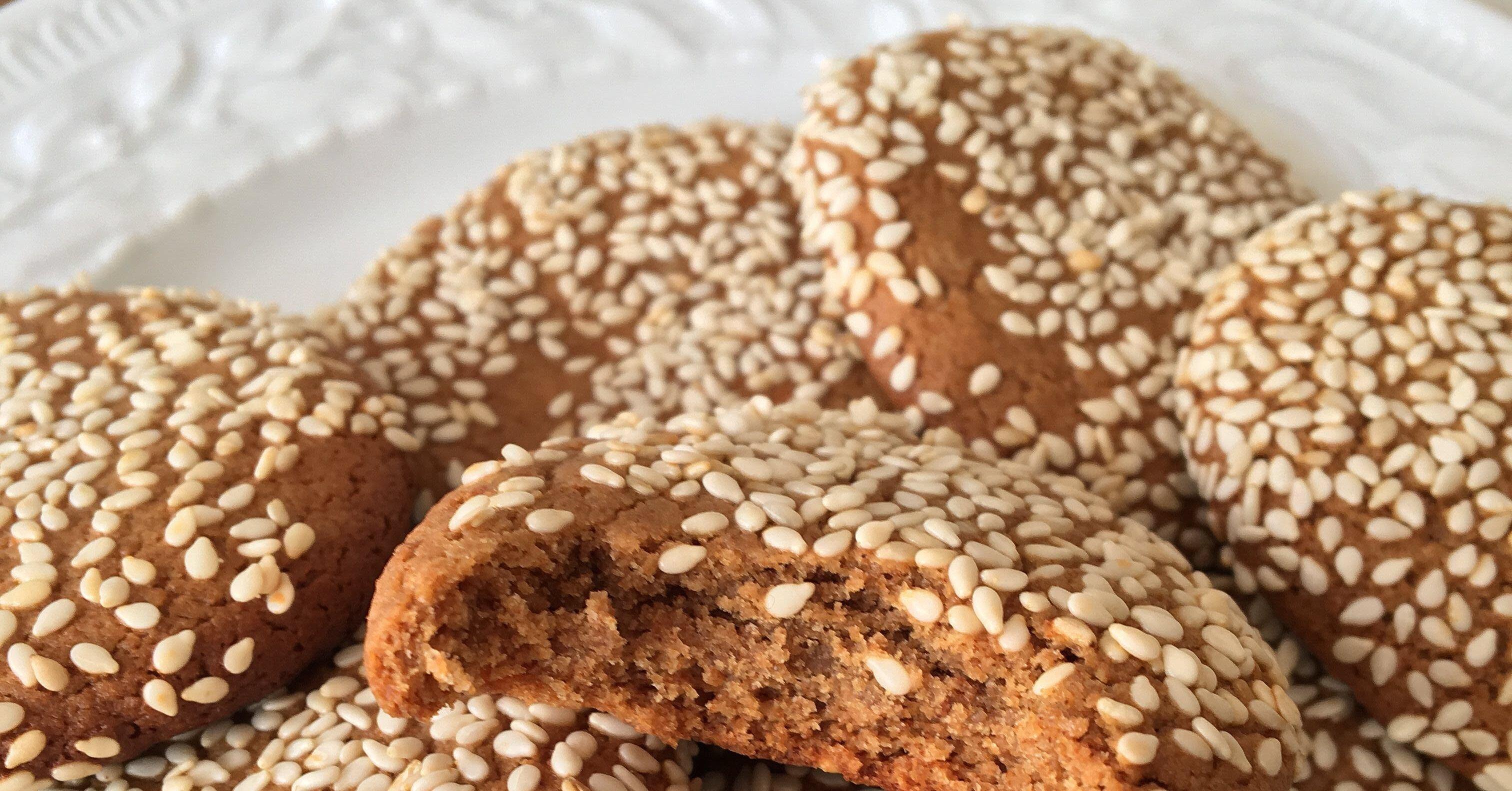 vegan tahini cookies recipe