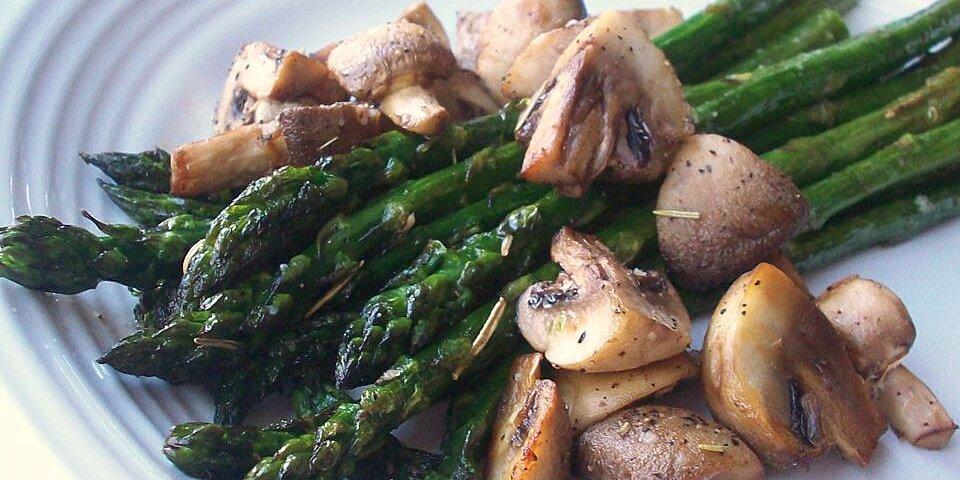 roasted asparagus and mushrooms recipe