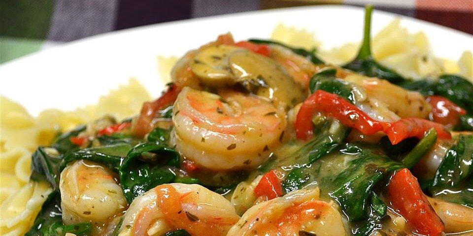 my special shrimp scampi florentine recipe