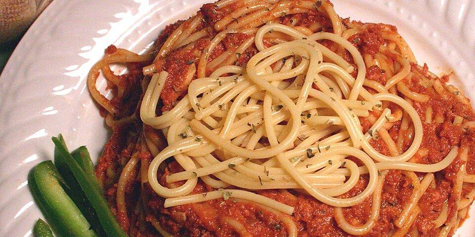 spaghetti with corned beef recipe