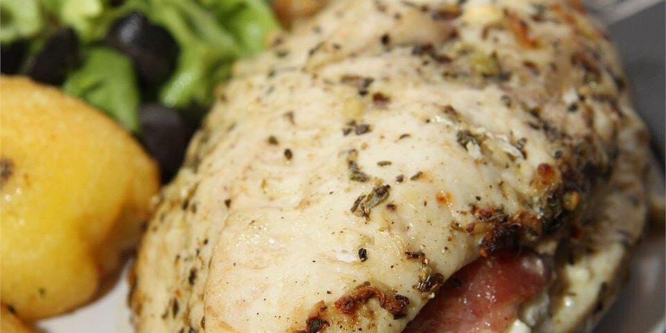 feta cheese and bacon stuffed breasts recipe