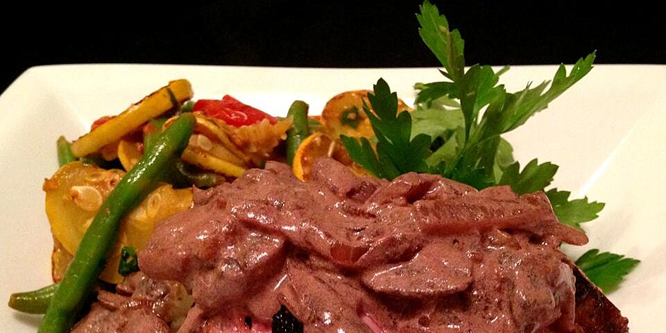 strip steak with red wine cream sauce recipe