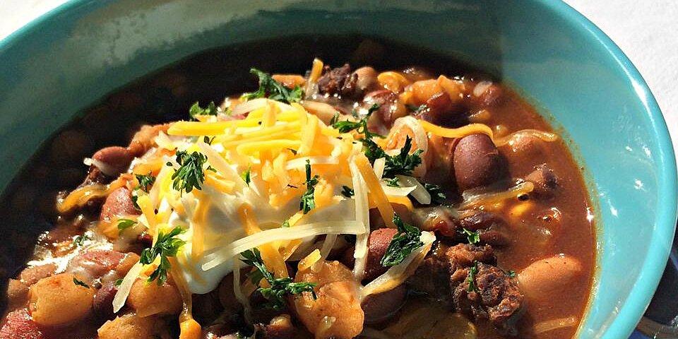 slow cooker taco bean soup recipe