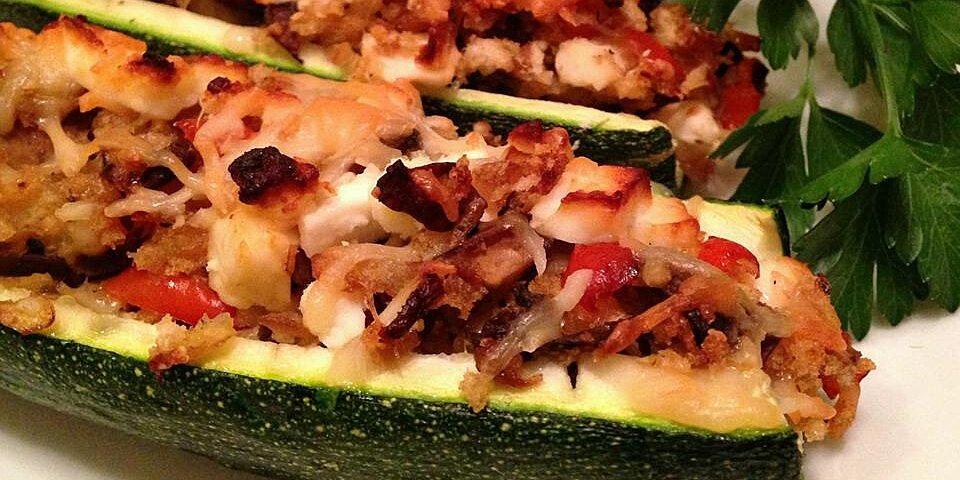 stuffed zucchini shells recipe