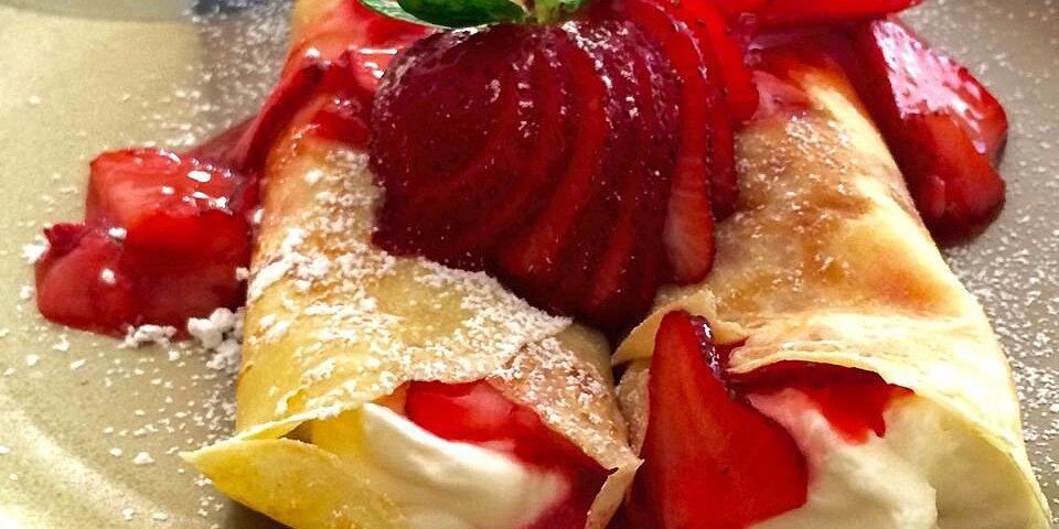 creamy strawberry crepes recipe