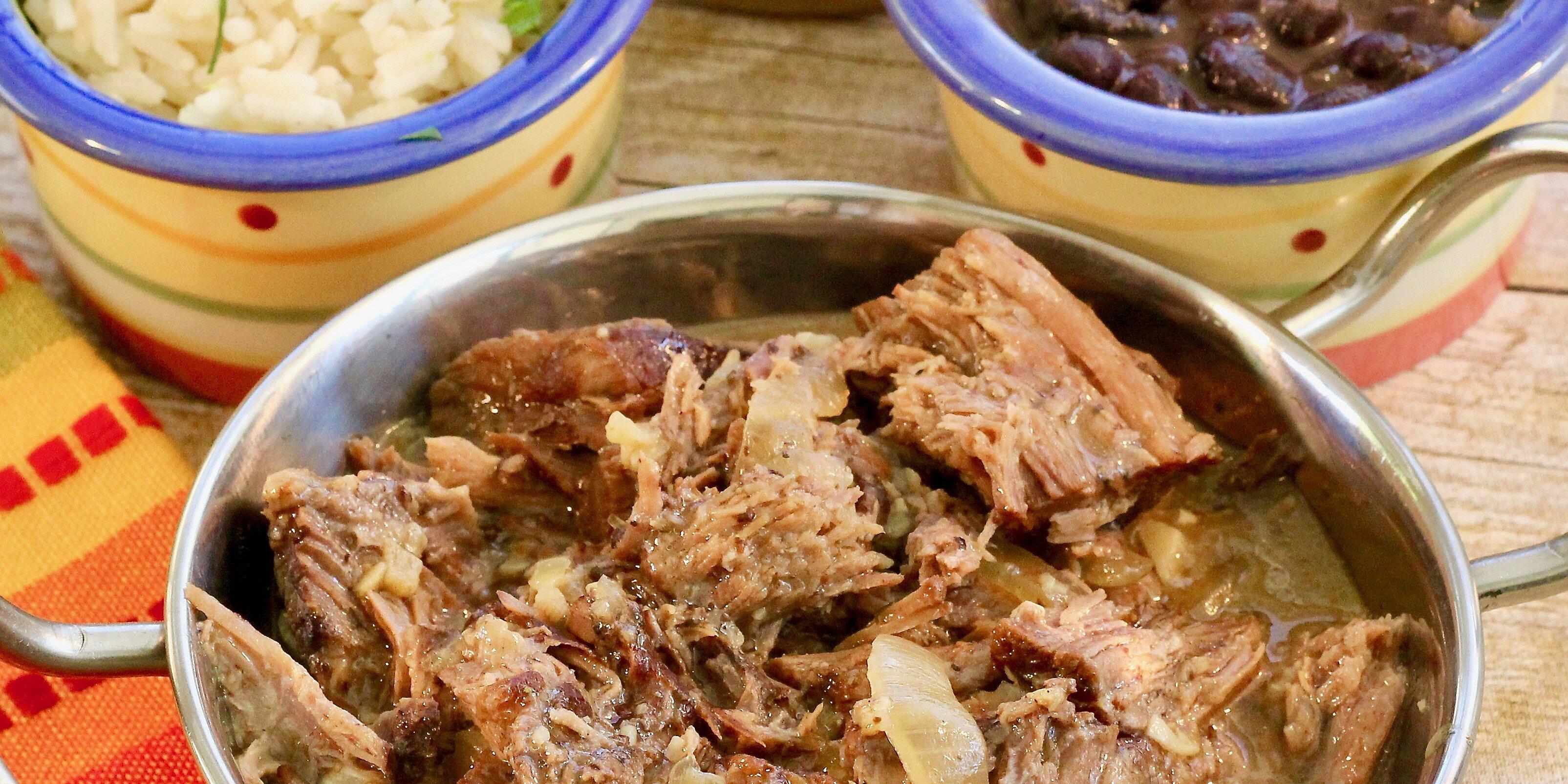 shredded slow cooker cuban beef recipe
