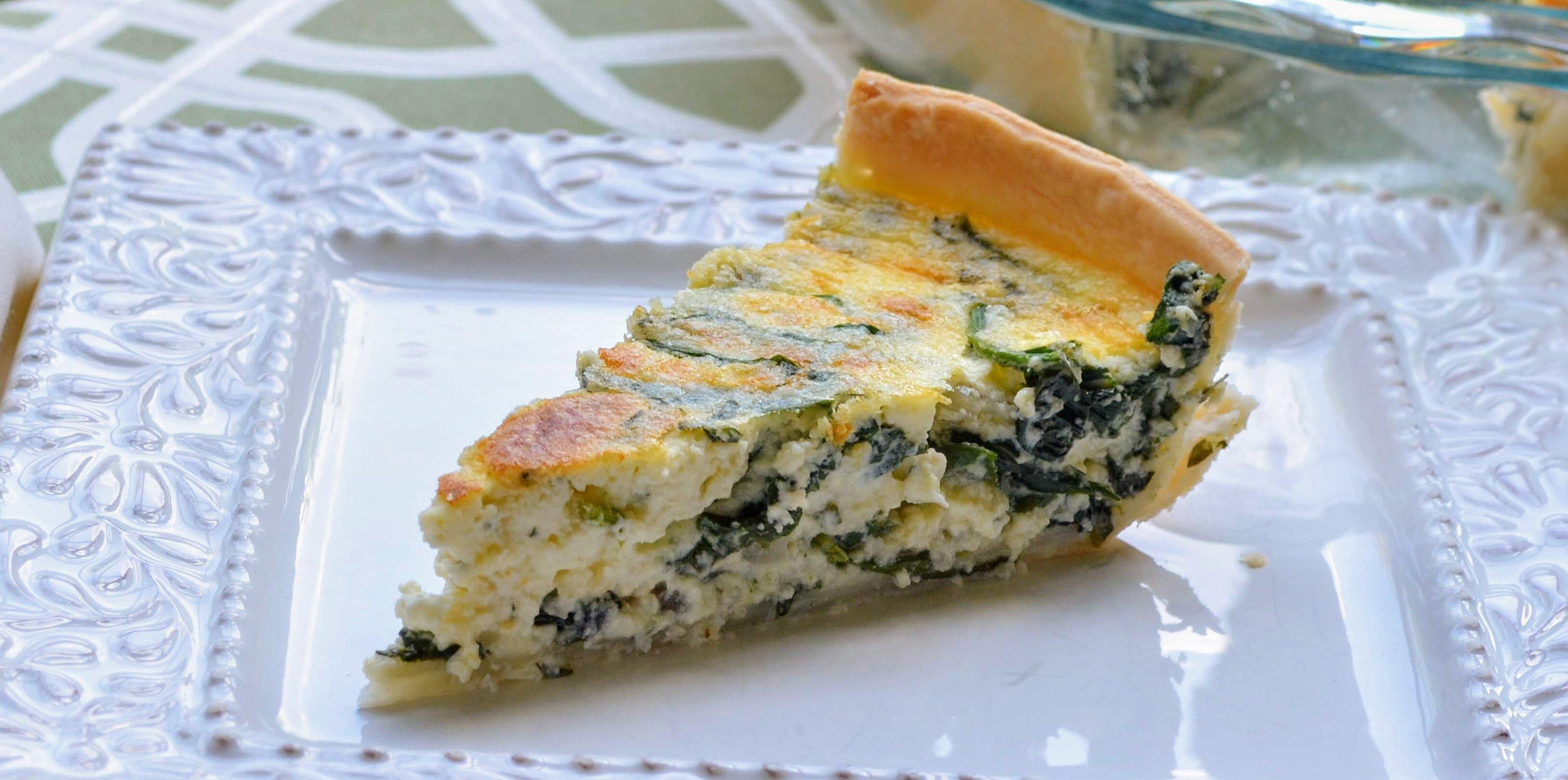 spinach ricotta quiche recipe