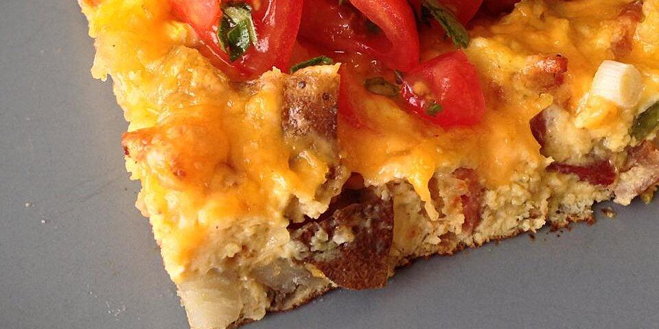 potato and pepper frittata