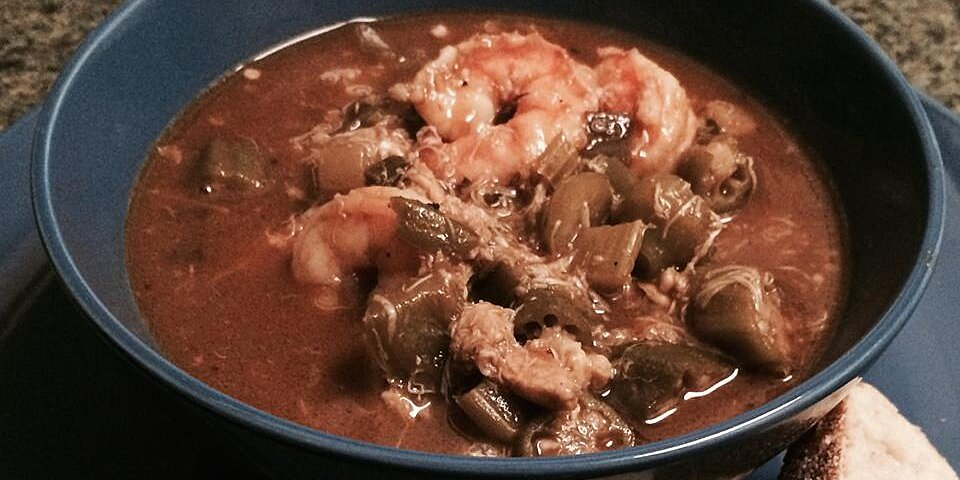 roux based authentic seafood gumbo with okra recipe
