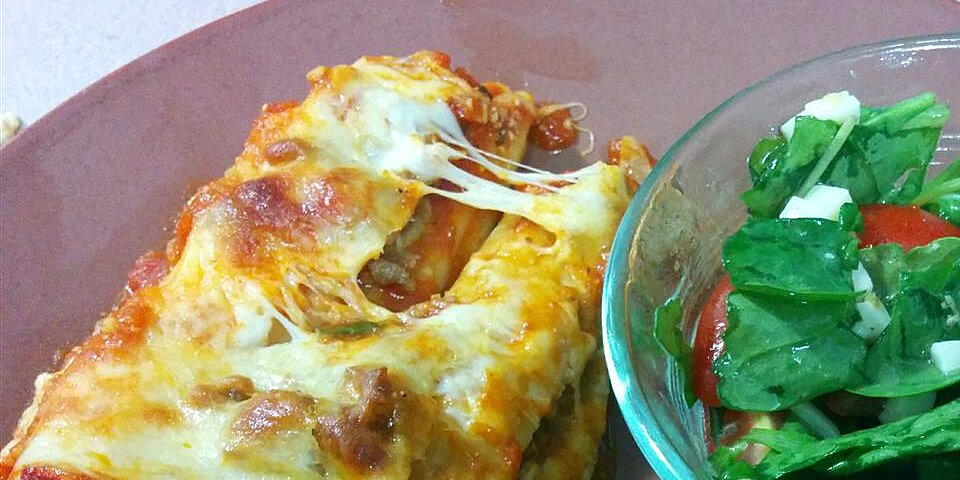 spinach manicotti with italian sausage recipe