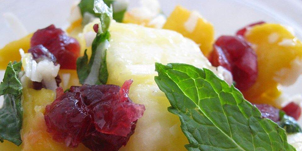 mango pineapple salad with mint recipe