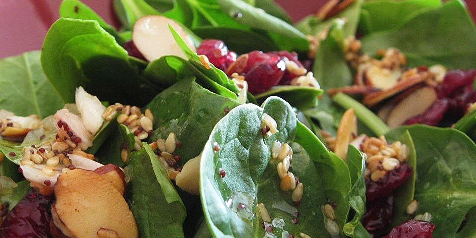 Jamie S Cranberry Spinach Salad Recipe Allrecipes