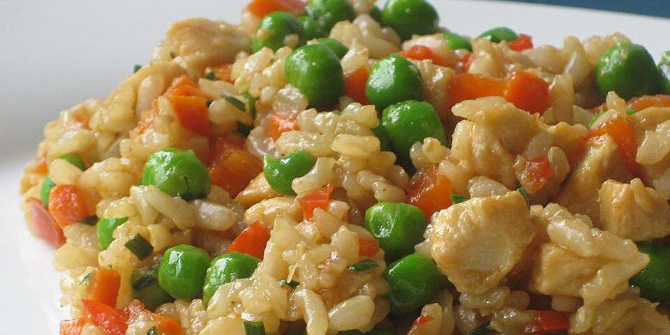 garlic chicken fried brown rice recipe