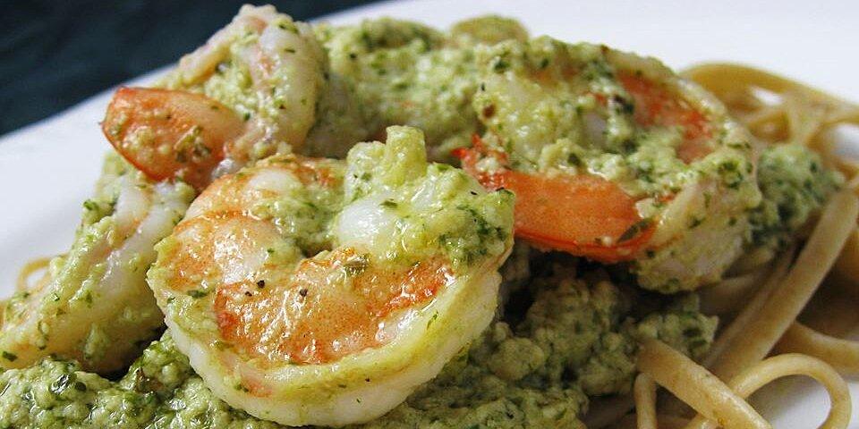 creamy pesto shrimp recipe