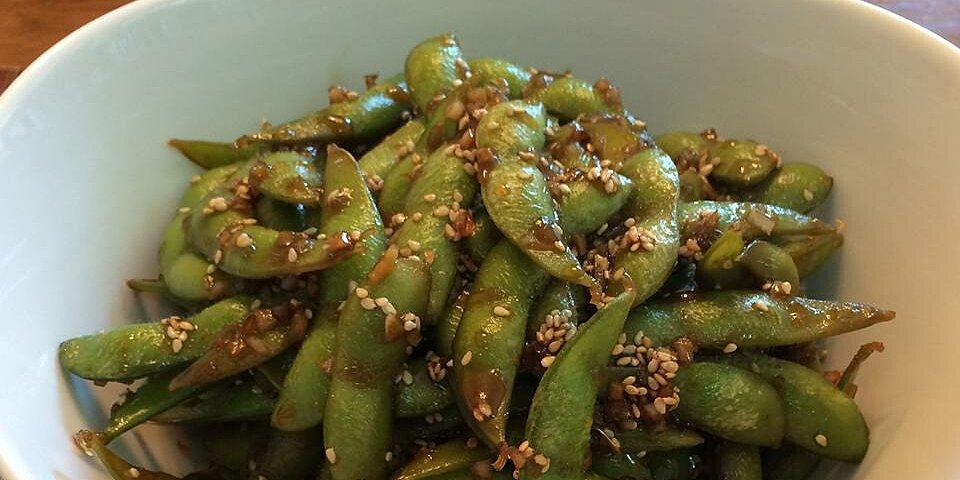 garlic teriyaki edamame recipe