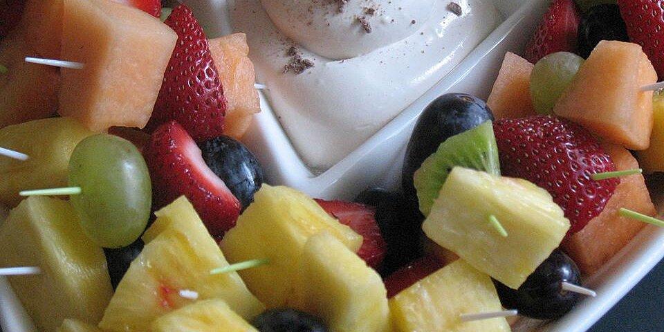 coffee flavored fruit dip recipe