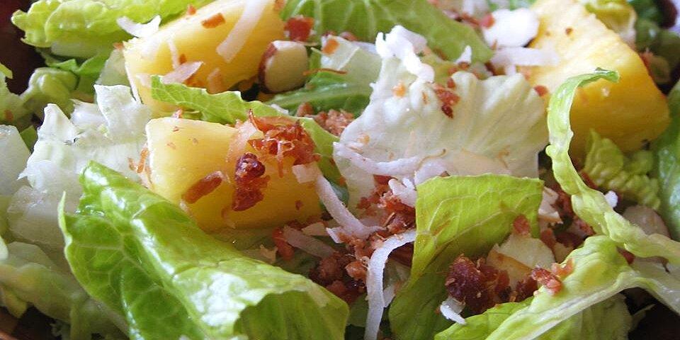 tropical salad with pineapple vinaigrette recipe