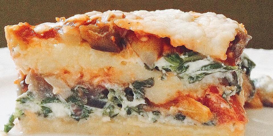 polenta lasagna with roasted vegetables recipe