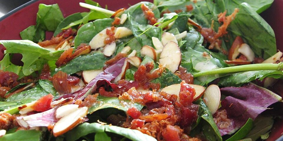 baby greens with a warm gorgonzola dressing recipe