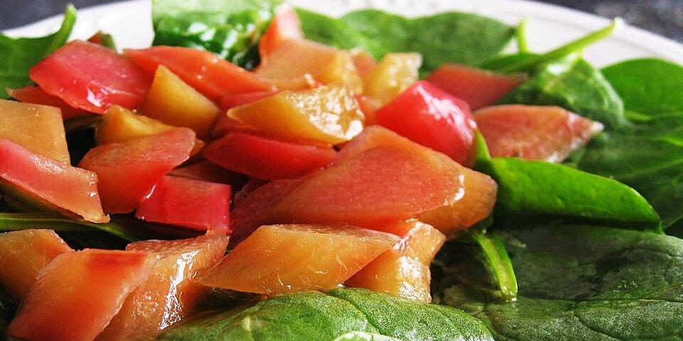 rhubarb spinach salad recipe