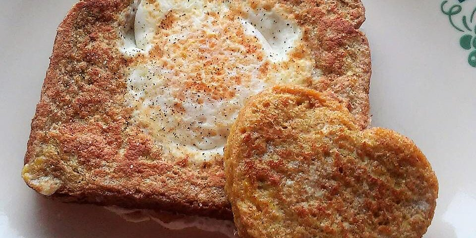 french toast variation of eggs in a basket recipe