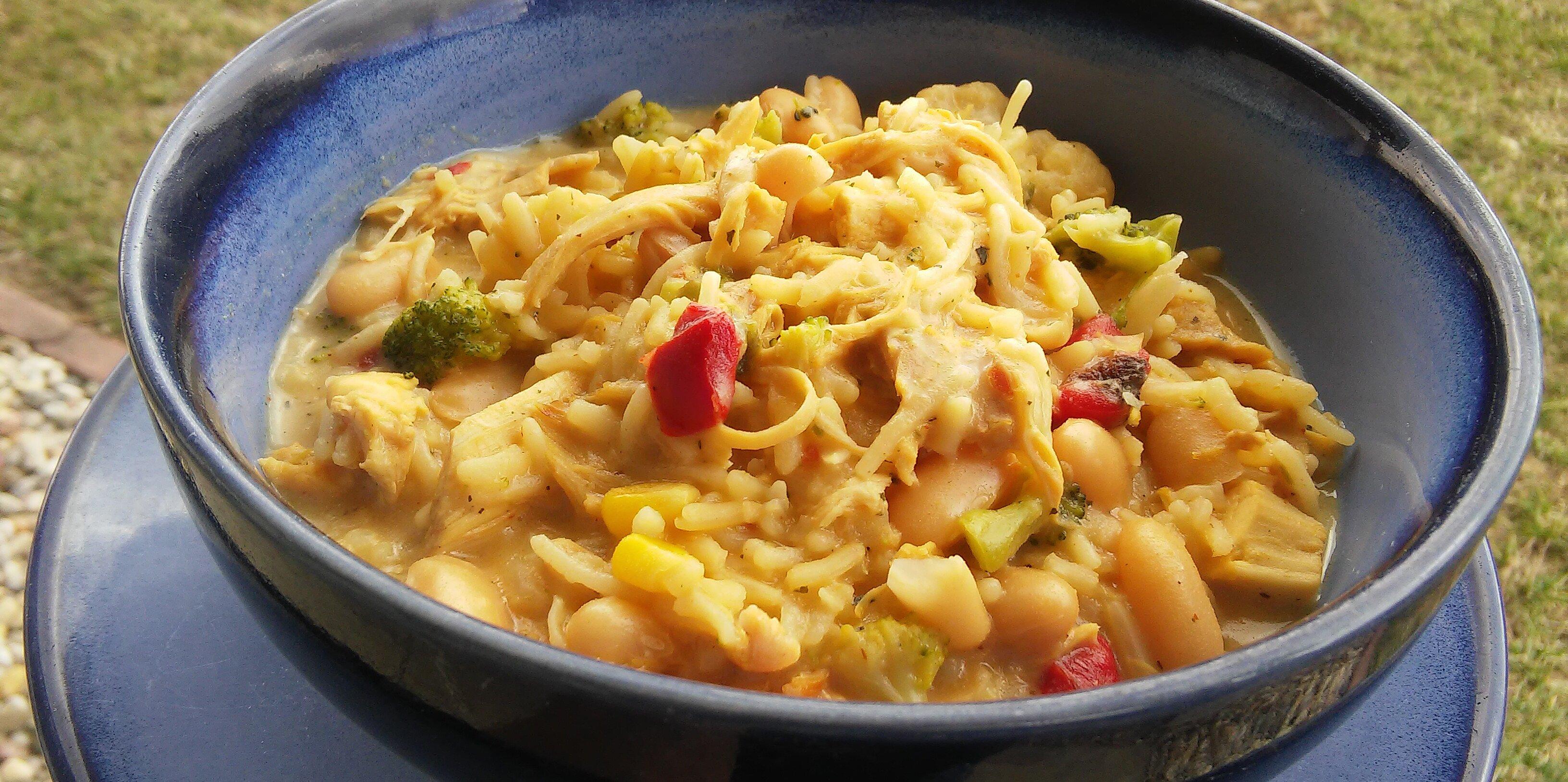 white chicken chili with rice recipe