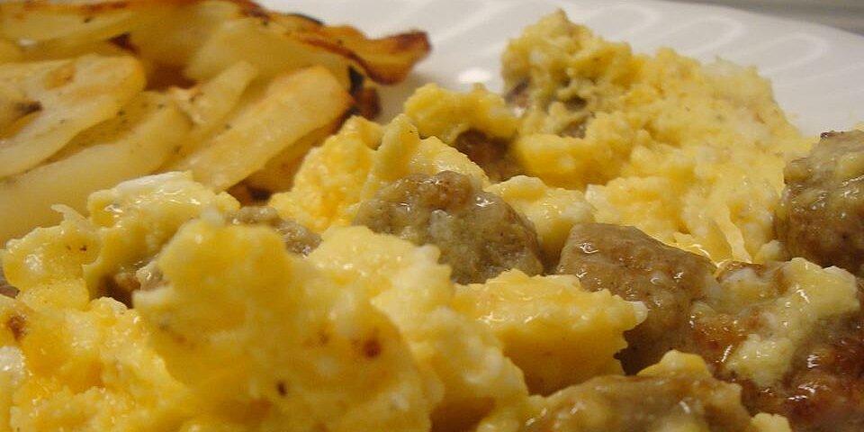 sausage egg and cheese scramble recipe