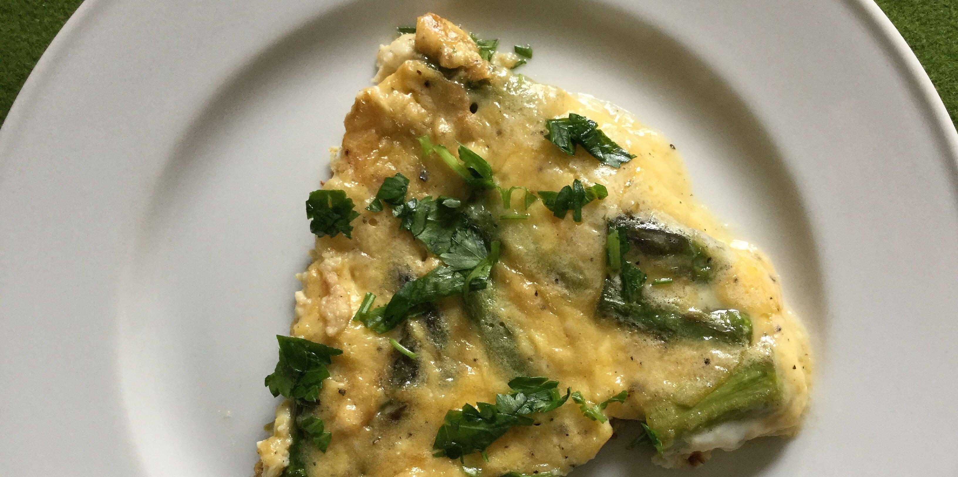easy asparagus frittata recipe