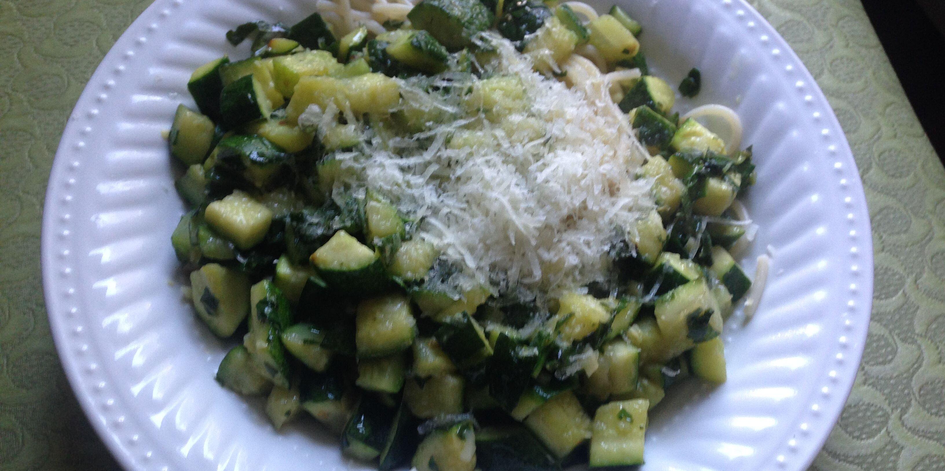 quick vegetarian pasta with zucchini and yellow squash recipe