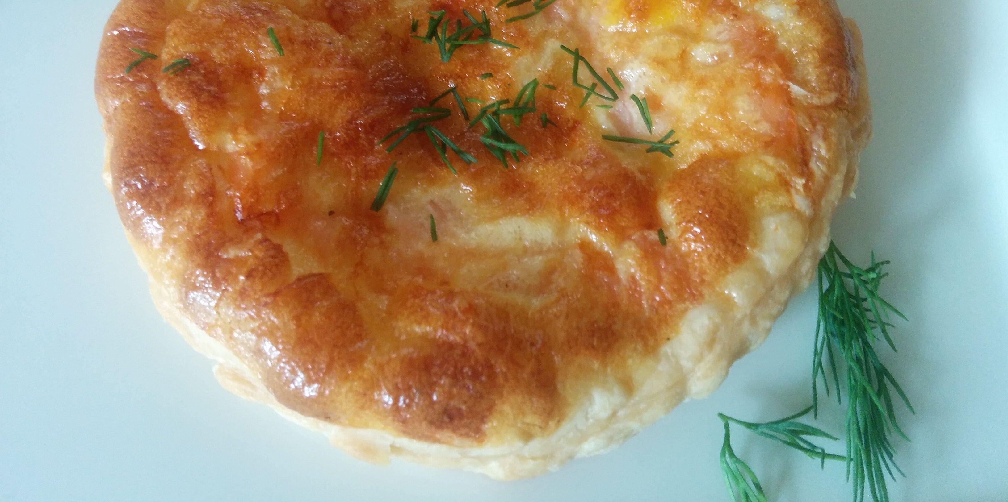 savory puff pastry tart with smoked salmon recipe