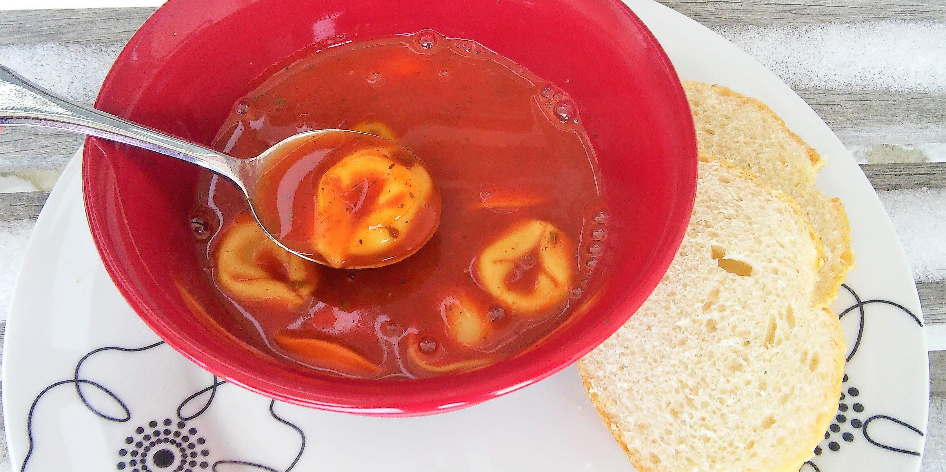 minute tomato soup with tortellini recipe