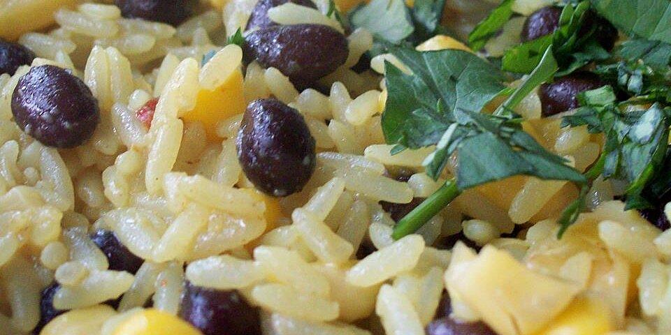 black beans corn and yellow rice recipe