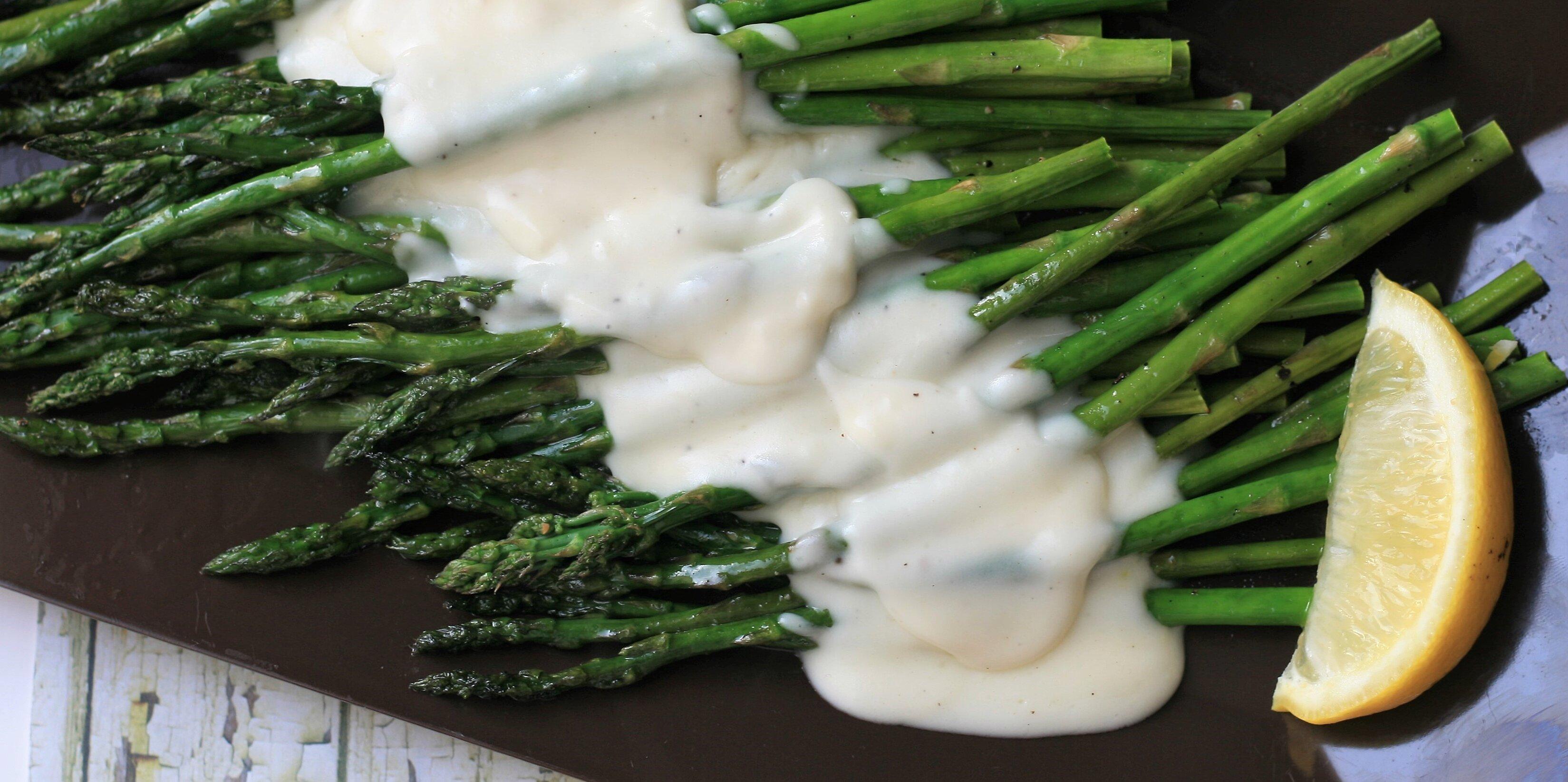roasted asparagus with parmesan cream sauce recipe