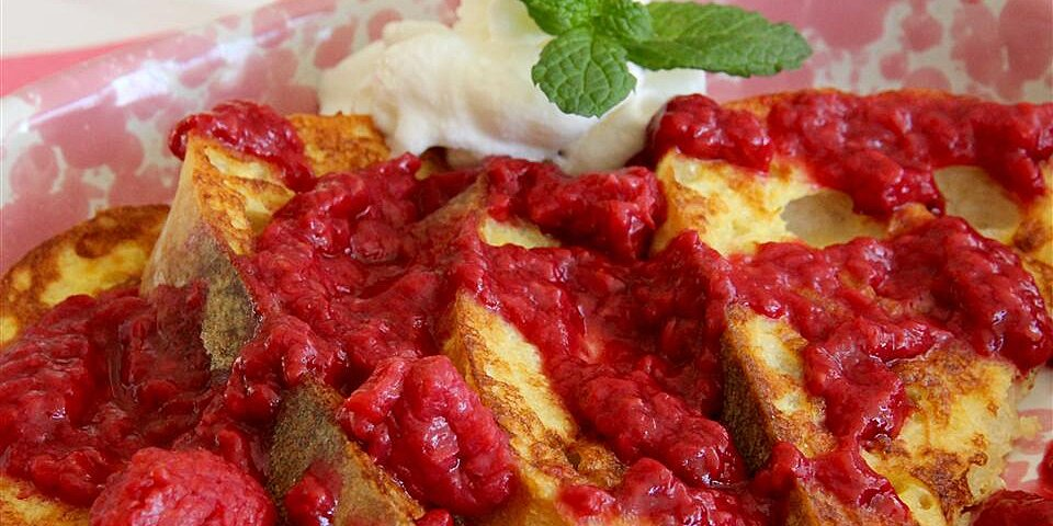 homemade raspberry sauce for pancakes or crepes recipe