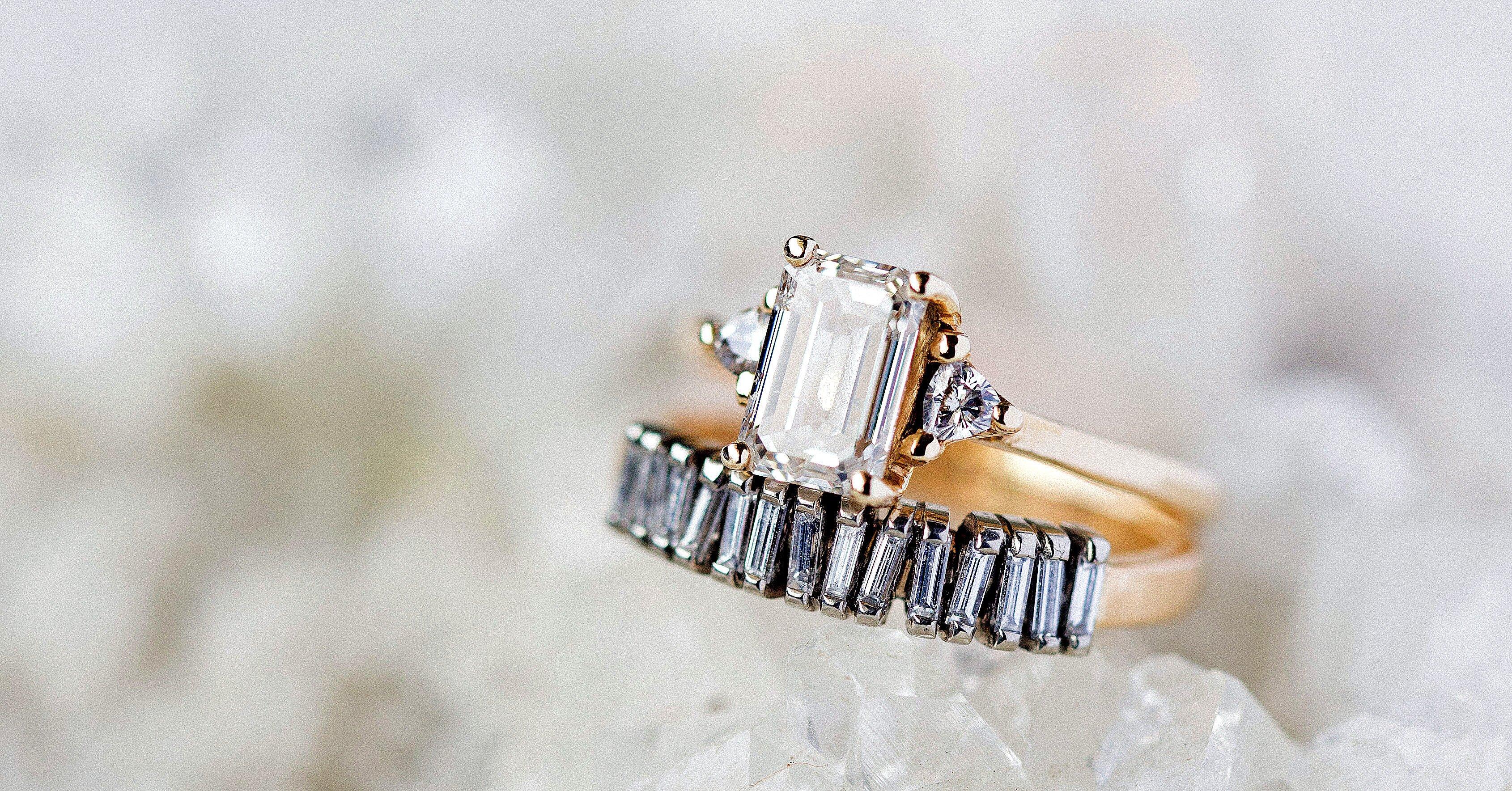 34 Elegant Emerald Cut Engagement Rings Martha Stewart Weddings