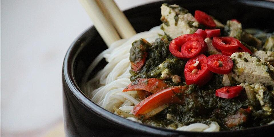 asian inspired vegetable noodle bowl recipe