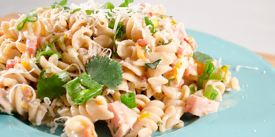 fresh summertime bow tie ham salad recipe