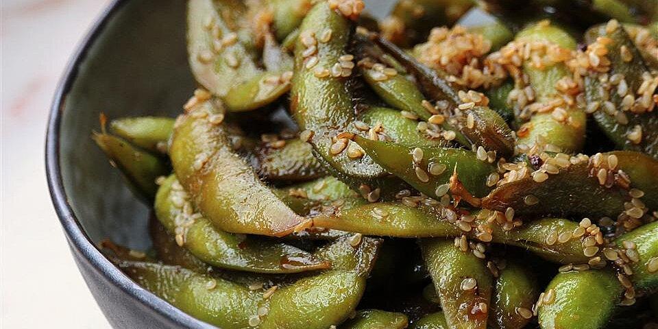 szechuan edamame soy beans recipe