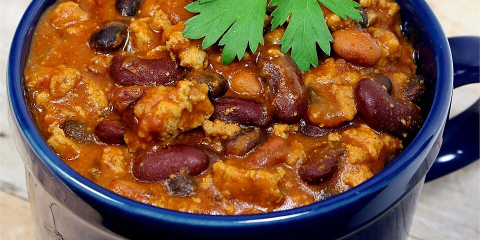 lauras quick slow cooker turkey chili