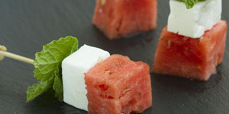 watermelon salad on a stick recipe