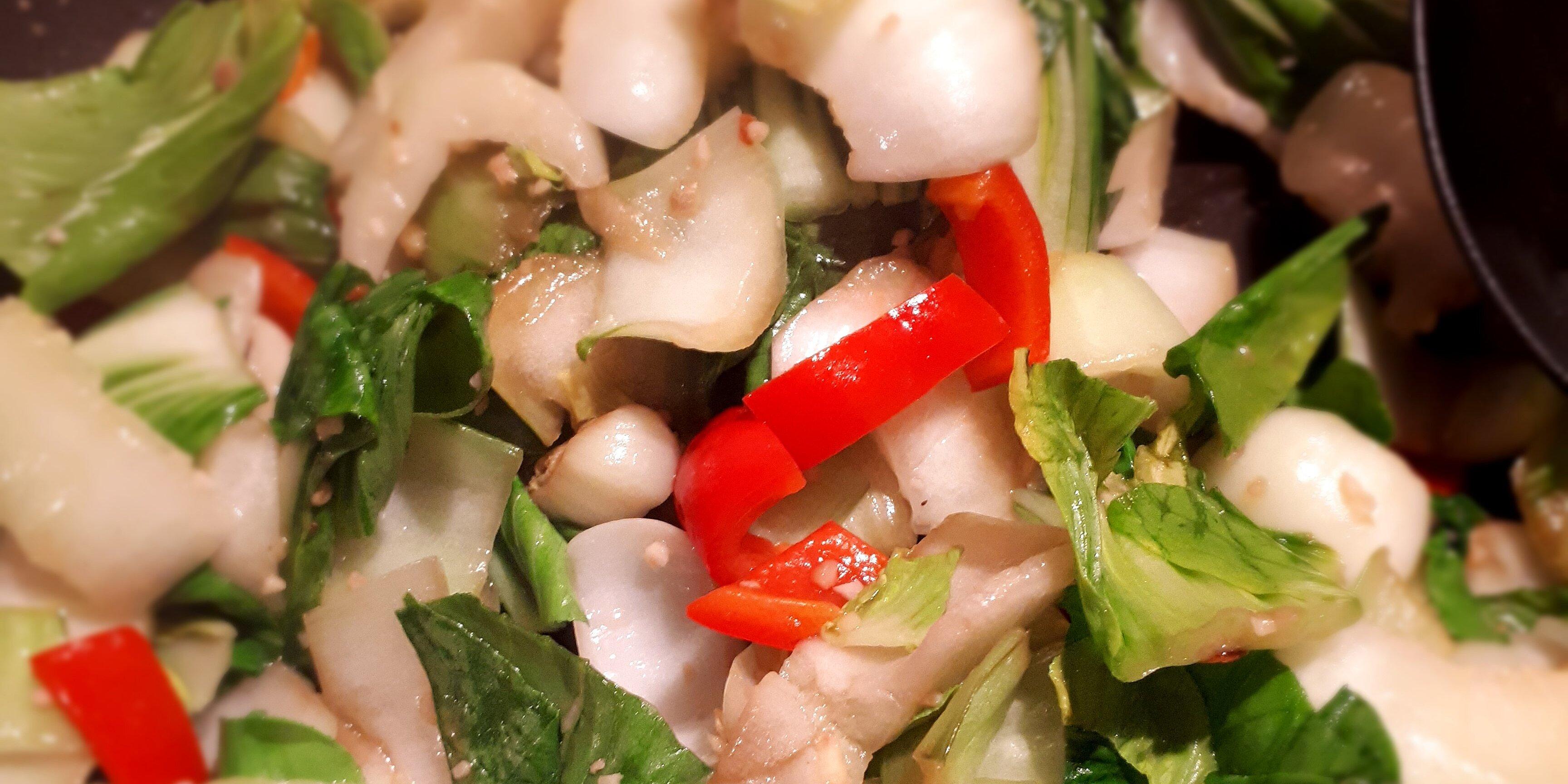 chef johns garlic and ginger bok choy