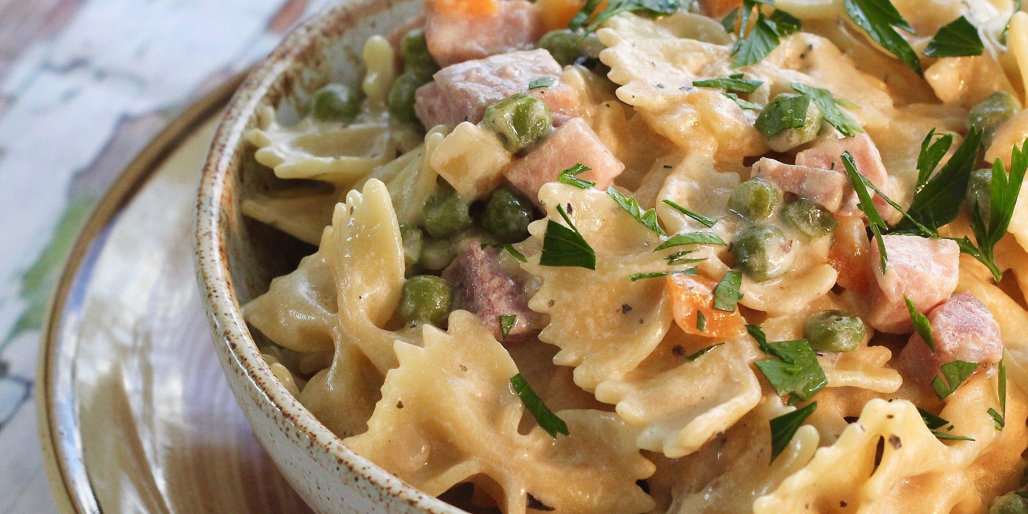 one pot ham and veggie pasta recipe