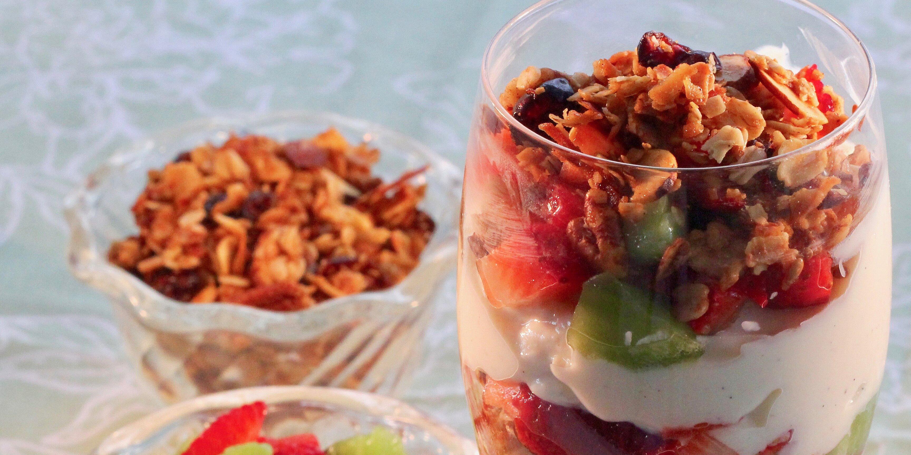 breakfast parfait with granola yogurt and fruit recipe