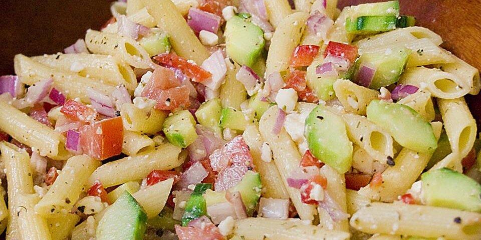 vegetarian greek pasta salad recipe
