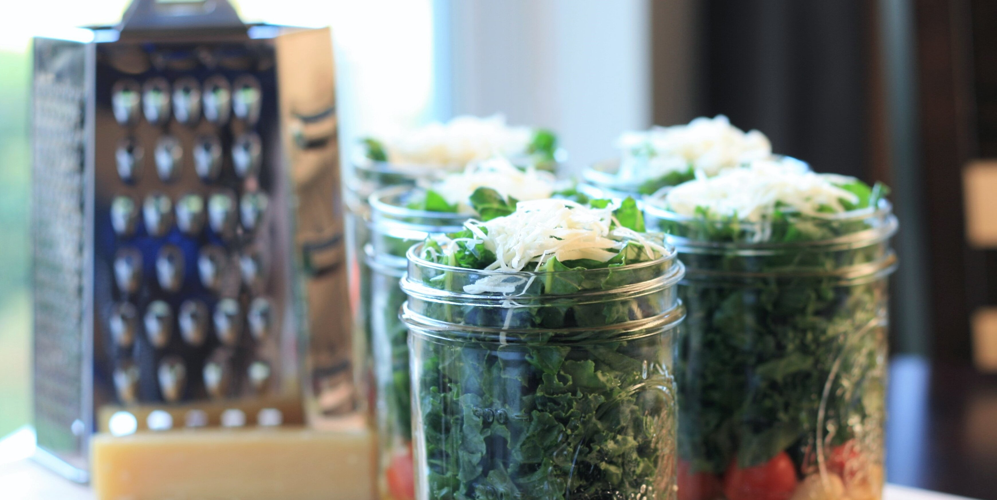 kale and cannellini bean salad in a jar recipe