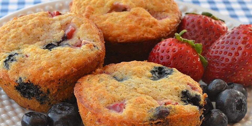 back to whole wheat oatmeal strawberry blueberry muffins recipe