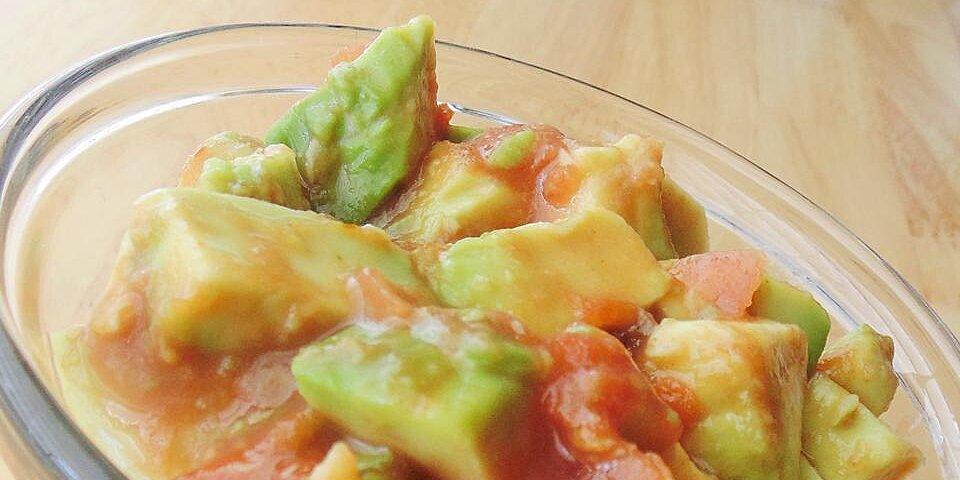 super simple guacamole topping recipe