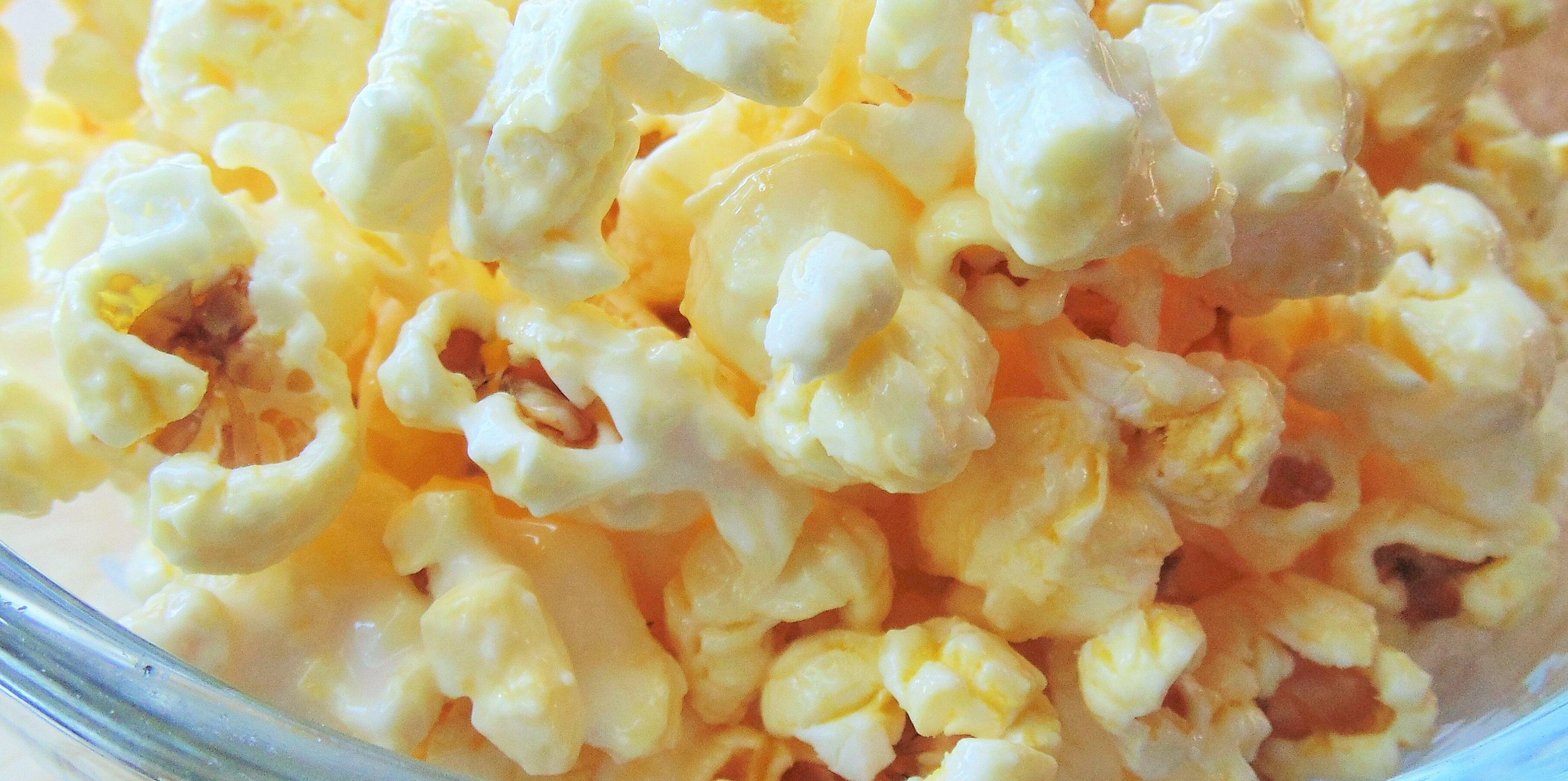 candied almond bark popcorn recipe